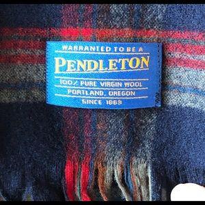 Vintage Pendleton plaid wool scarf